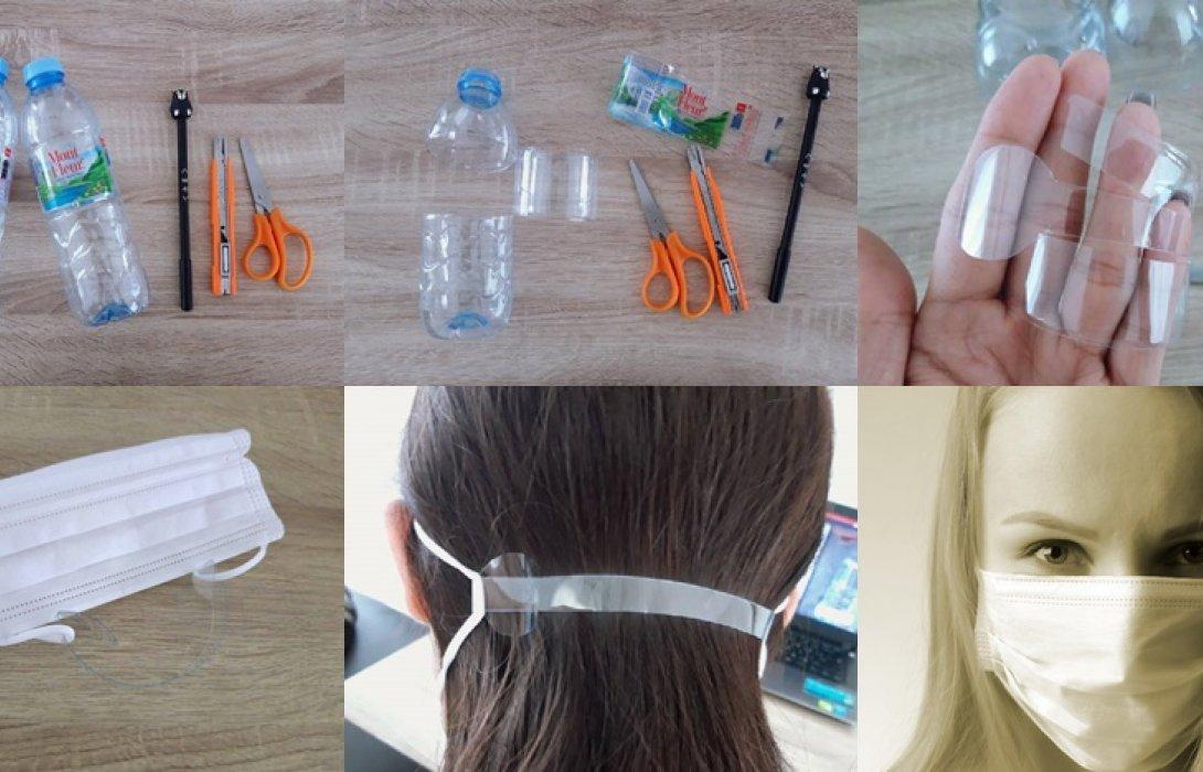 """มาลองทำดู ง่าย ๆ """"DIY"""" สายรัดหน้ากากอนามัย จากขวดน้ำพลาสติก หมดปัญหาสายคล้องหลวมเกินไปไม่กระชับใบหน้า"""