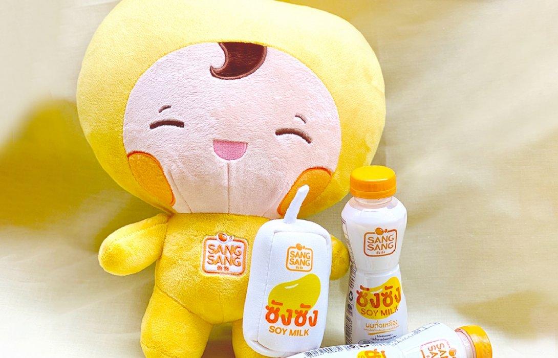 """นมถั่วเหลืองคั้นสด """"ซังซัง"""" ขวดใหม่ได้แล้วที่ 7-11 พร้อมลุ้นรับตุ๊กตาน้องซังซังสุดชิค"""