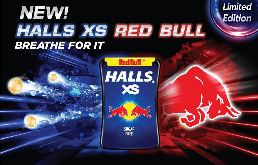 """""""มอนเดลีซ"""" เปิดตัว """"Halls XS Red Bull"""" ลูกอมรสชาติคูลสุดขั้วครั้งใหม่!"""