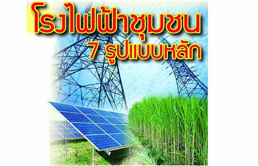 เปิด 6 โรงไฟฟ้าชุมชนนำร่องเร่งด่วน  ชาวบ้านเฮ ! ได้ถือหุ้นเป็นเจ้าของ10-30%