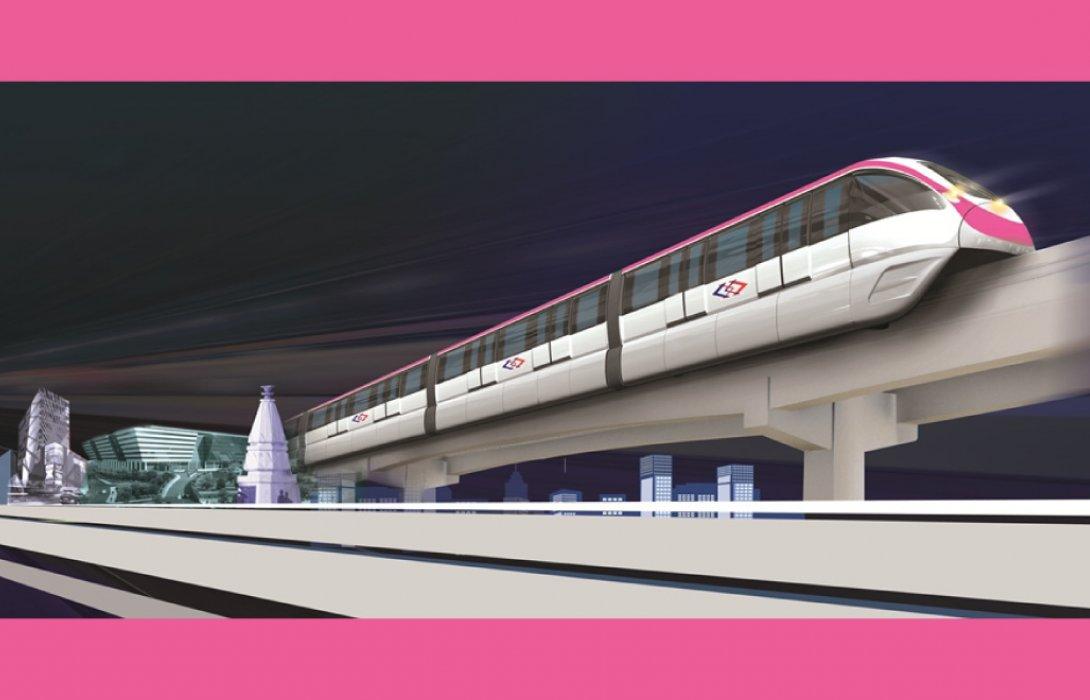 ครม.ไฟเขียวส่วนต่อขยายรถไฟฟ้าสายสีชมพูเชื่อมเข้าเมืองทองธานี