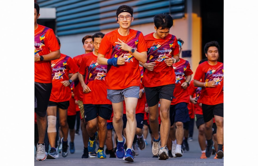 """ผู้บริหาร """"สีเบเยอร์"""" มุ่งสร้างองค์กรสุขภาพดี ชวนพนักงานเดิน – วิ่งแบบ Virtual Run"""