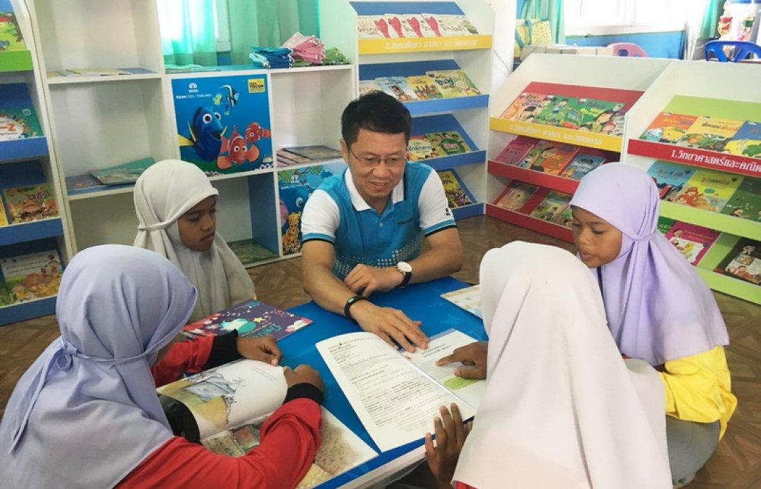 ทาทา สตีล พัฒนา7ลุ่มทักษะเด็กไทย  เดินหน้าห้องสมุดมินิไซส์12แห่งโรงเรียนชายแดนภาคใต้