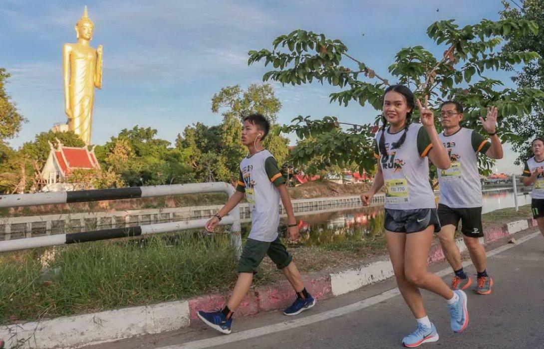 """จากการวิ่งสู่การแบ่งปัน""""พัฒนาเมืองร้อยเอ็ด""""ให้ยั่งยืนในวิ่งการกุศล Global House 101 RUN"""