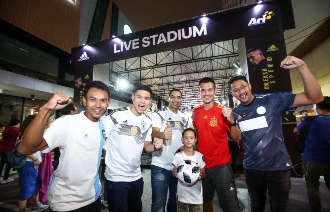 อาดิดาส ผุดแคมเปญขานรับกระแสฟุตบอลโลก2018ชวนคอลูกหนังชมสดฟุตบอลโลกผ่านทีวีจอยักษ์