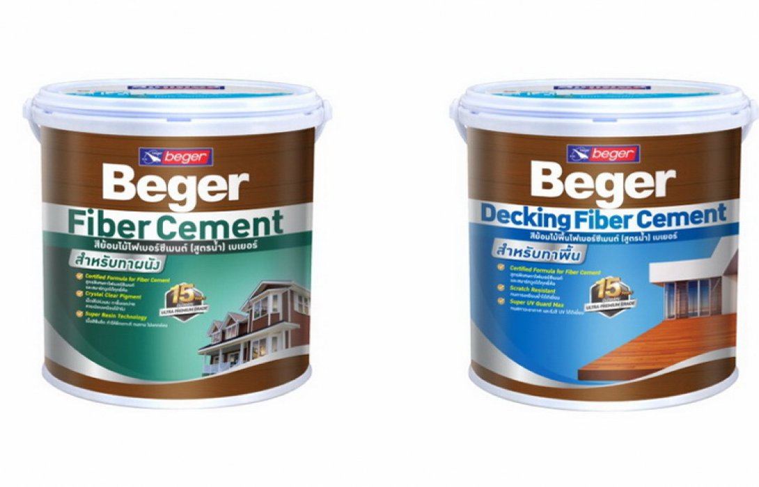 """Beger WoodStain Fiber Cement"" เบเยอร์ สีย้อมไม้ไฟเบอร์ซีเมนต์ (สูตรน้ำ)"