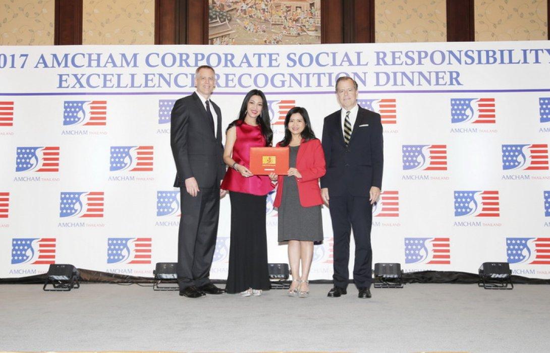 เอไอเอ ประเทศไทย รับรางวัลดีเด่นด้านกิจการเพื่อสังคม จากสภาหอการค้าอเมริกัน  ติดต่อกัน 6 ปีซ้อน