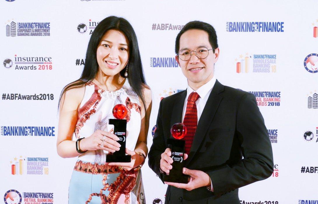 เอไอเอ ประเทศไทย คว้าสองรางวัลในงาน Insurance Asia Awards 2018
