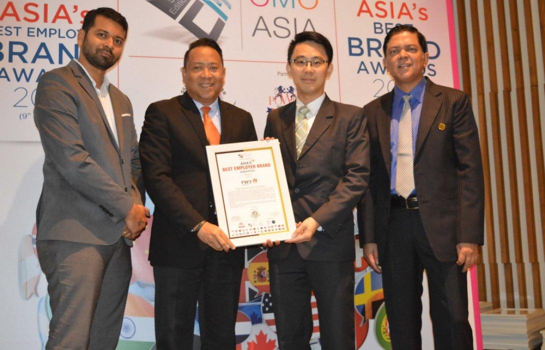 """เอฟดับบลิวดี ประกันชีวิต คว้ารางวัล """"Asia's Best Employer Brand Awards 2018"""""""