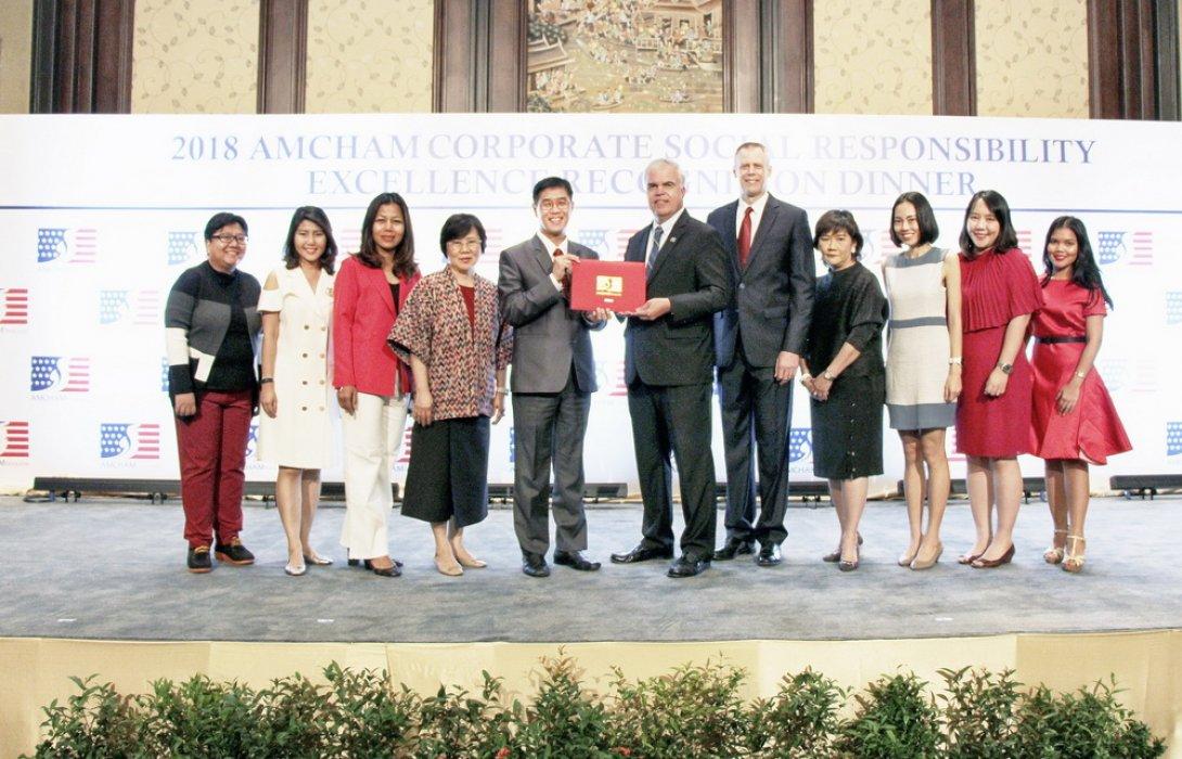 เอไอเอประเทศไทย รับรางวัลดีเด่นด้านกิจการเพื่อสังคม จากสภาหอการค้าอเมริกัน (AMCHAM CSR ExcellenceRecognition Award) ติดต่อกันเป็นปีที่ 7