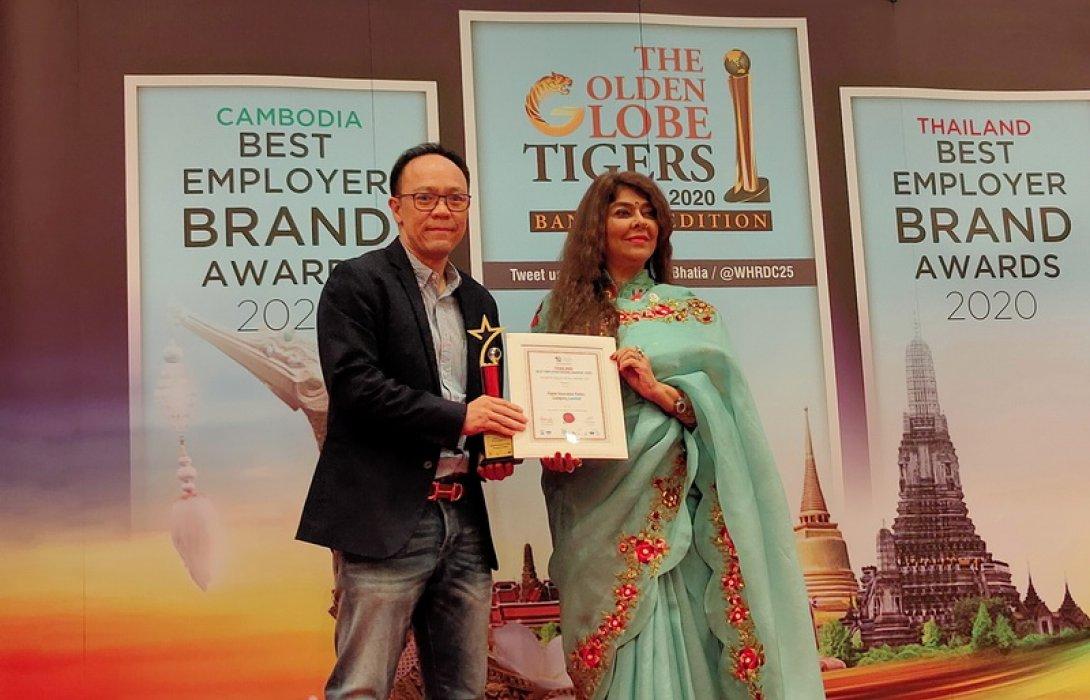 'ซิกน่าประกันภัย' คว้ารางวัลสุดยอดนายจ้างดีเด่น จากเวที  Thailand Best Employers Brand Awards 2020 ตอกย้ำจุดยืนของแบรนด์ในการส่งเสริมให้พนักงานมีชีวิตและความเป็นอยู่ที่ดี