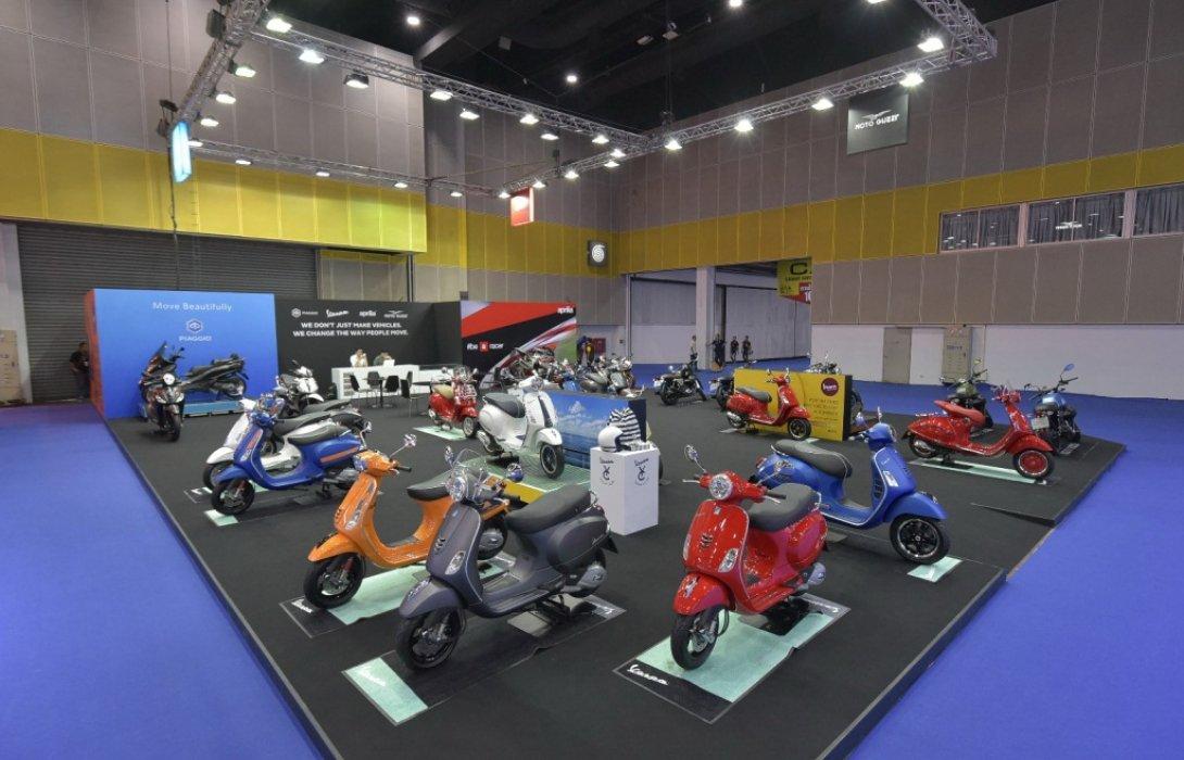 """โมโตเพล็กซ์ ขนทัพ เวสป้า พิอาจิโอ อาพริเลีย  โมโต กุซซี่ อัดโปรโมชั่นในงาน""""Big Motor Sale 2018"""""""