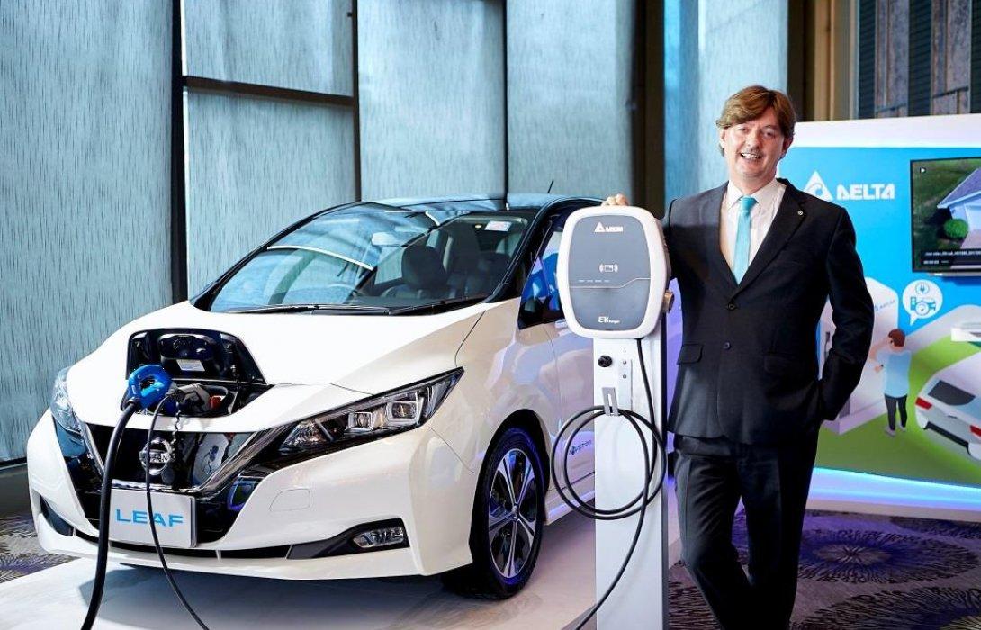 นิสสัน นำเสนอกลยุทธ์การสร้างระบบนิเวศรถยนต์ไฟฟ้าในงาน Delta Future Industry Summit 2019