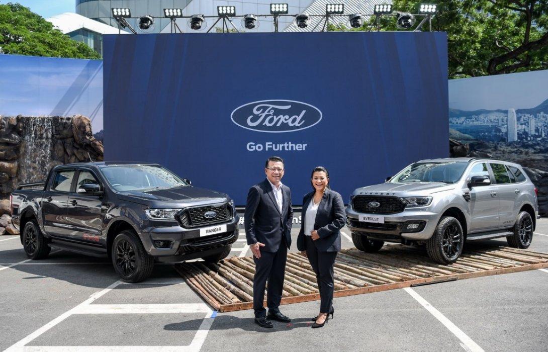 ฟอร์ดเปิดตัวรถสองรุ่นใหม่ ตอกย้ำดีไซน์โดดเด่น ฟอร์ด เรนเจอร์ FX4 และ ฟอร์ด เอเวอเรสต์ สปอร์ต