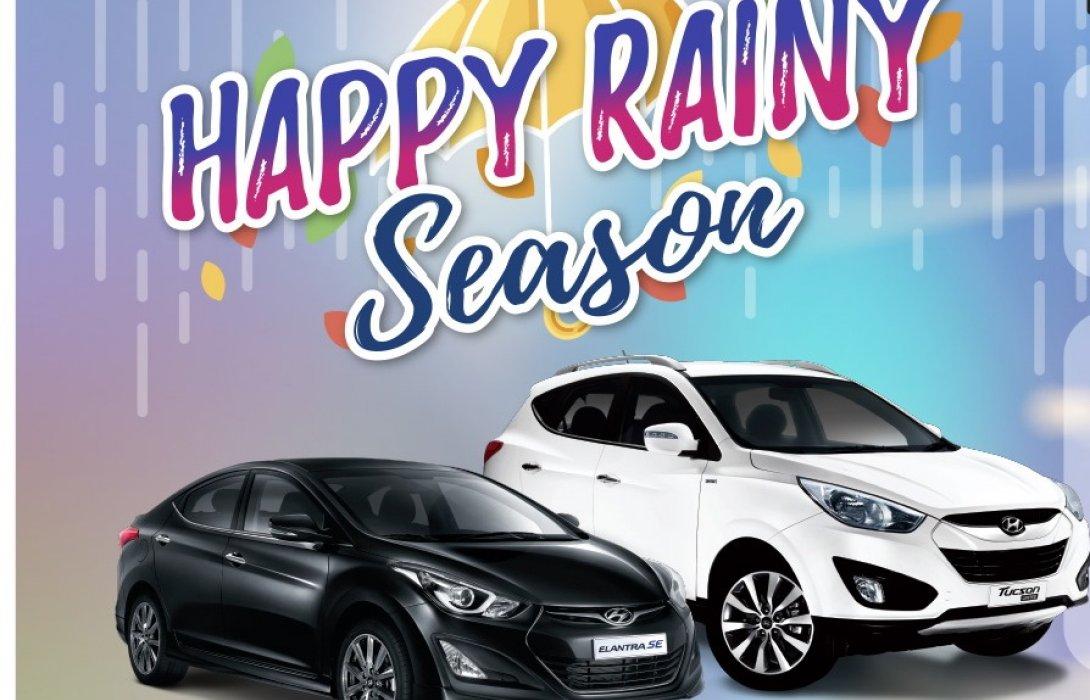 """ฮุนไดจัดแคมเปญ """"Happy Rainy Season""""มอบบริการตรวจเช็คสภาพรถยนต์ฟรี40รายการ"""