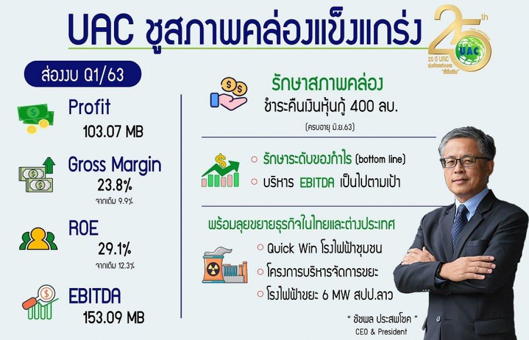 UAC ฐานะแกร่งพร้อมคืนหนี้หุ้นกู้ 400 ล้าน
