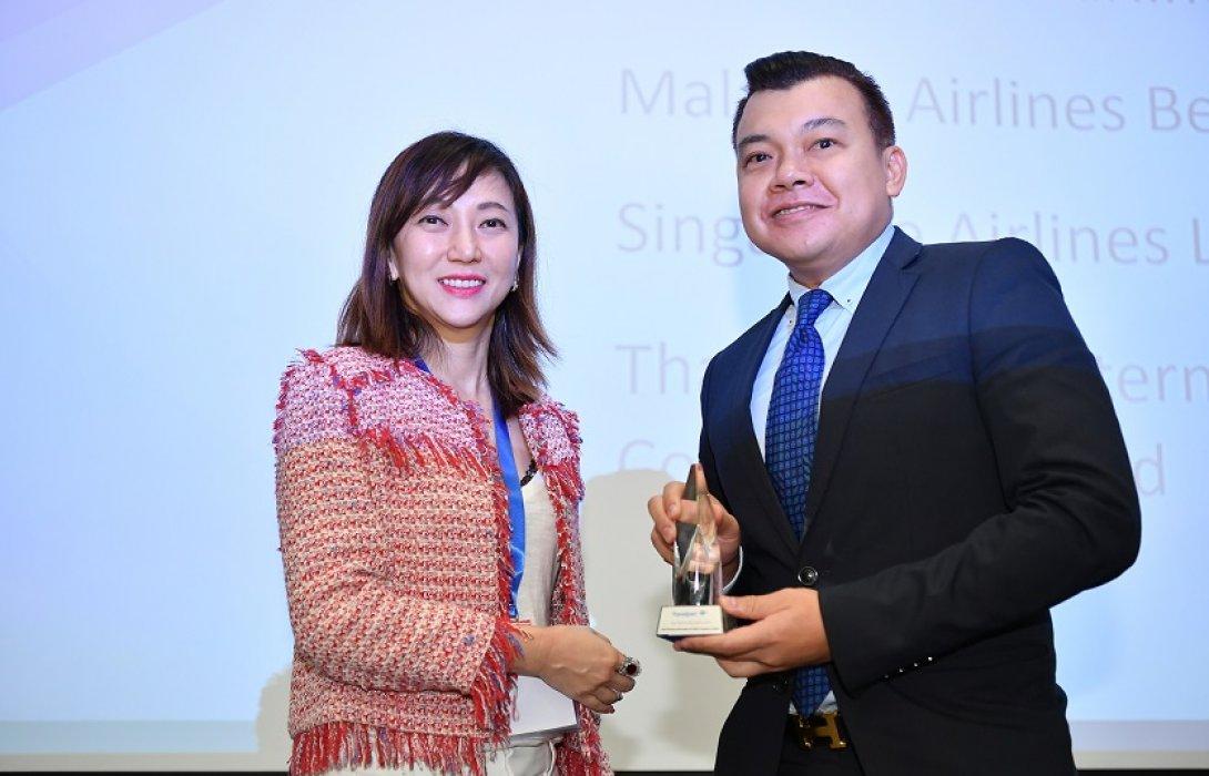 การบินไทยรับรางวัลสายการบินที่มียอดจาก Travelport
