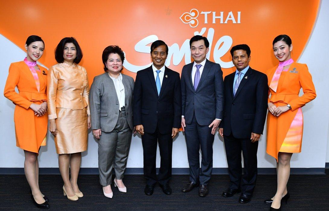 """ไทยสมายล์ ขานรับนโยบายคมนาคม """"เชื่อมไทย เชื่อมโลก"""""""