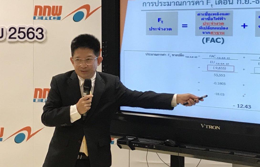 คนไทยโล่งอก กกพ. ประกาศค่าเอฟที -12.43 สตางค์ ปัจจัยเชื้อเพลิงขาลงจากโควิด-19