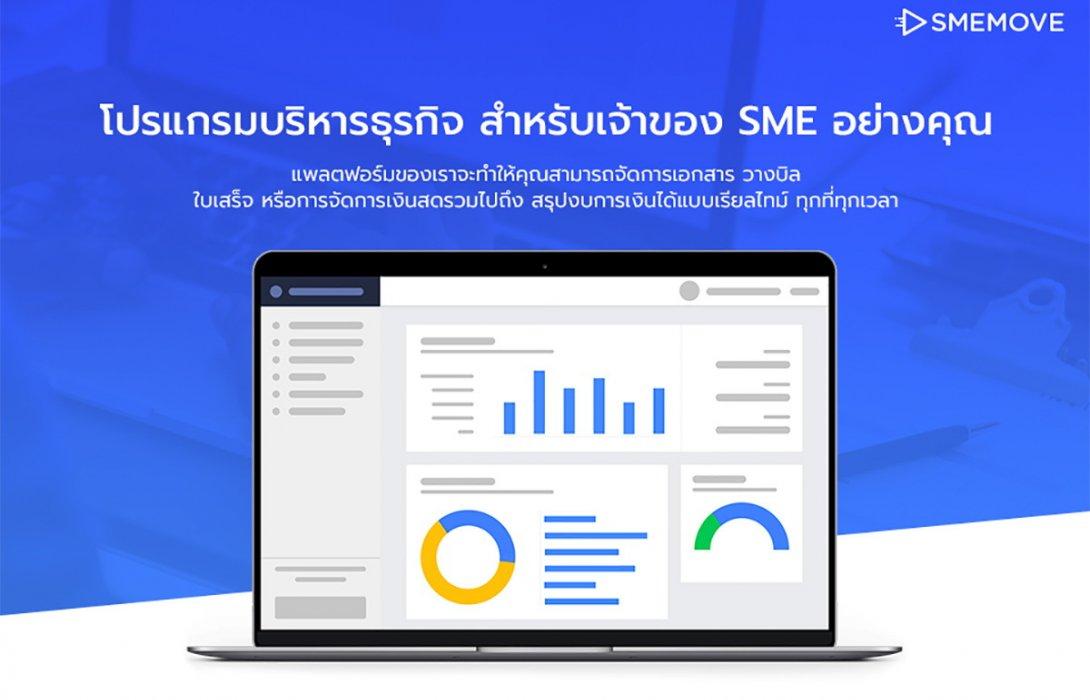 SMEMOVE แอพฯเดียวครบตอบโจทย์ธุรกิจ SME ขับเคลื่อนธุรกิจอย่างมั่นคง